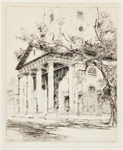 Alfred Heber Hutty - Old St. Michael's, Charleston