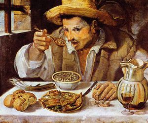 Annibale Carracci - The beaneater Sun