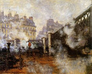Claude Monet - The Europa bridge at Saint-Lazare Sun