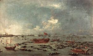 Francesco Lazzaro Guardi - Outward Voyage of the Bucintoro to San Nicolo del Lido