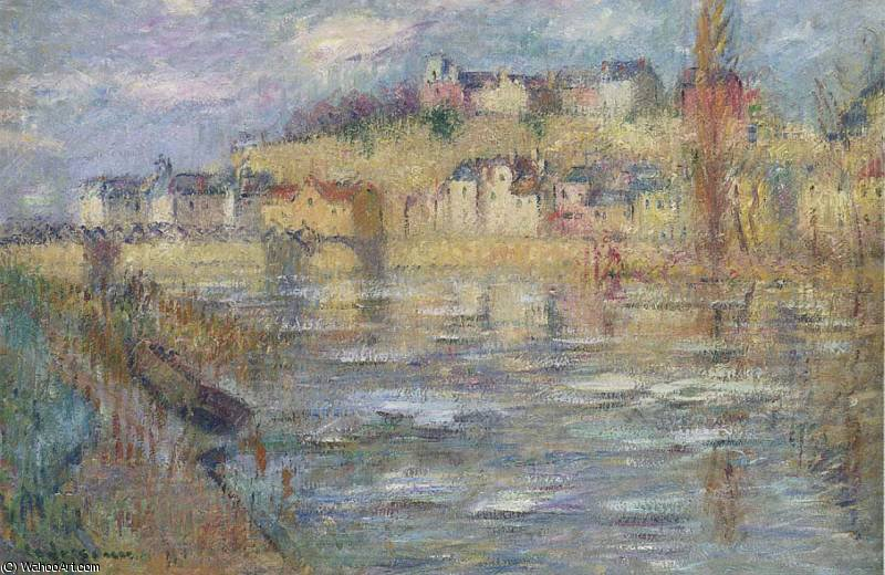 famous painting Ice on the Oise river of Gustave Loiseau