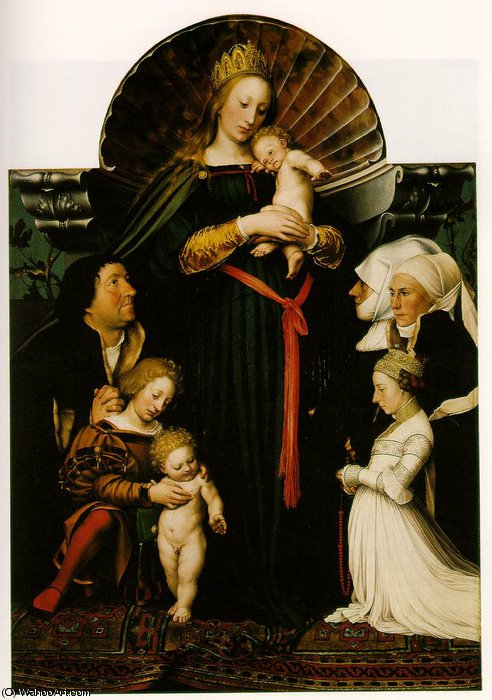 famous painting virgin and child with the family of burgomaster of Hans Holbein The Younger