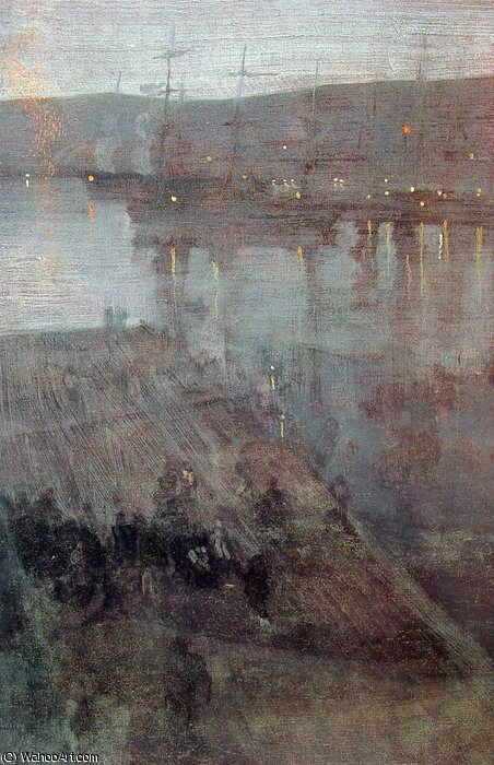 famous painting Nocturne in Blue and Gold Valparaiso Bay of James Abbott Mcneill Whistler