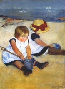 Mary Stevenson Cassatt - children by the shore