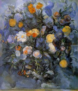 Paul Cezanne - flowers sun