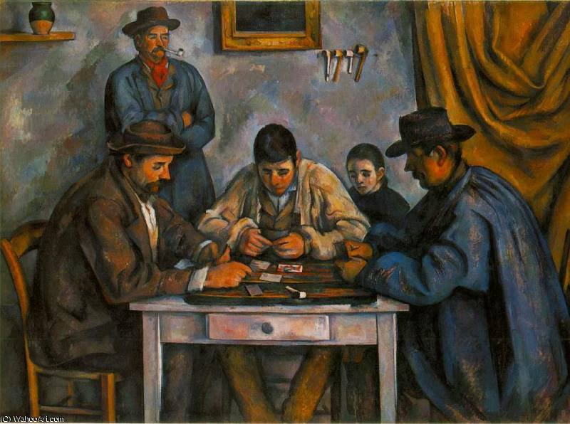 Order Reproductions | the card players by Paul Cezanne | AllPaintingsStore.com