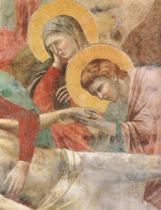 Giotto Di Bondone - Lamentation (detail)