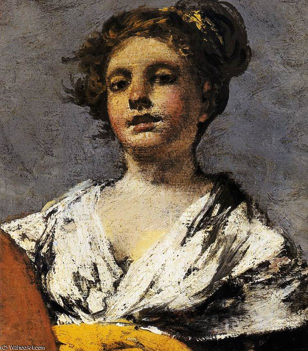 famous painting Water carrier (detail) of Francisco De Goya