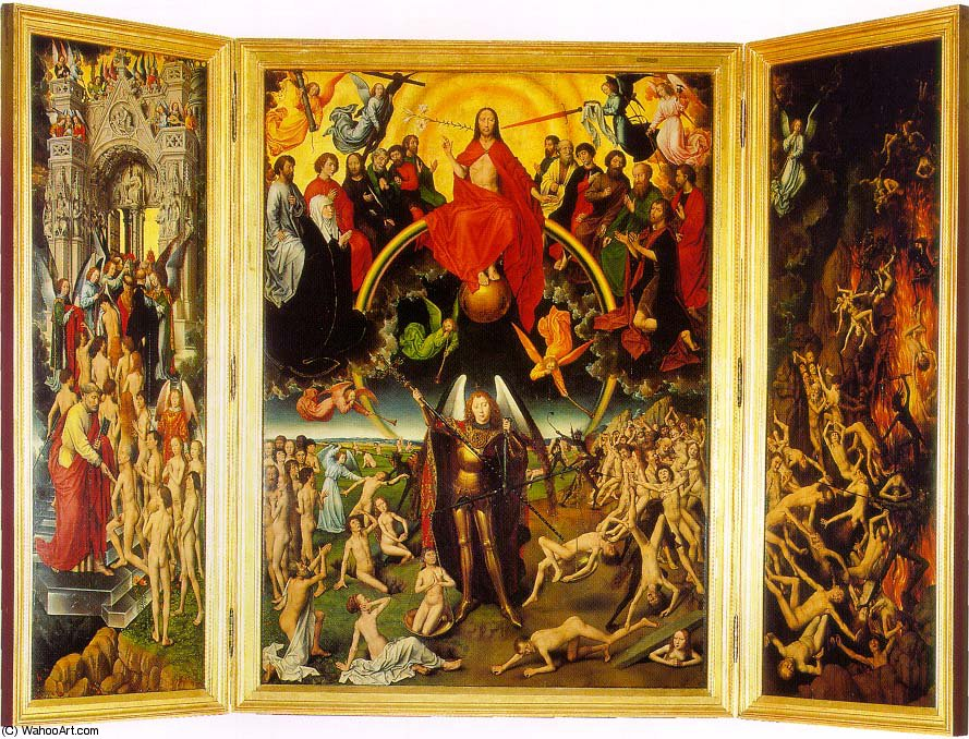 famous painting The last judgement triptych of Hans Memling