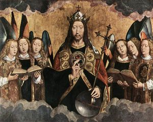 Hans Memling - late - Christ Surrounded by Musician Angels