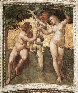 Raphael (Raffaello Sanzio Da Urbino) - Adam and Eve (ceiling panel)