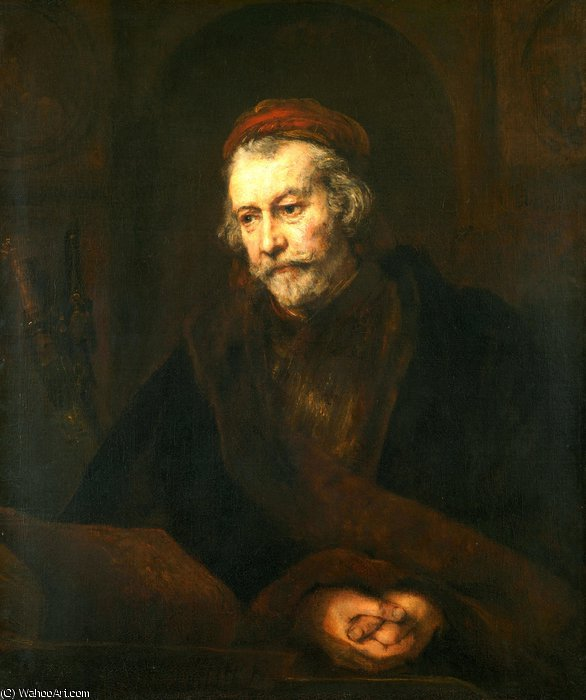 famous painting An Elderly Man as Saint Paul of Rembrandt Van Rijn