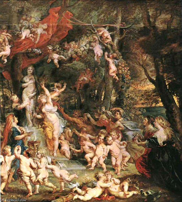 famous painting The Feast of Venus d of Peter Paul Rubens