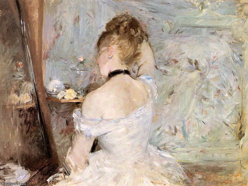 famous painting A Woman at her Toilette of Berthe Morisot