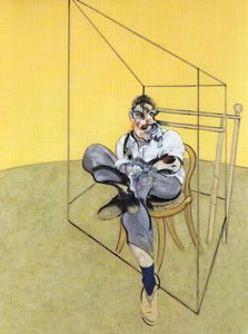 Francis Bacon - Three Studies of Lucian Freud, center