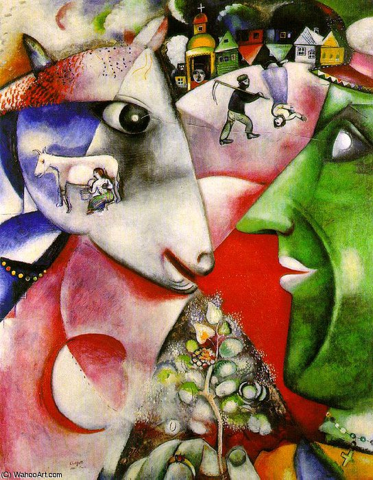 famous painting I and the Village, Moma NY of Marc Chagall