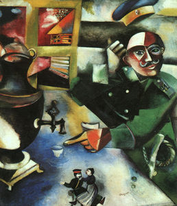 Marc Chagall - The Soldier Drinks, oil on canvas, The Solo