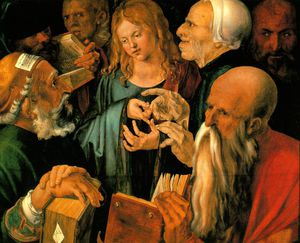 Albrecht Durer - Christ among the doctors,1506, fundacion coleccion thy