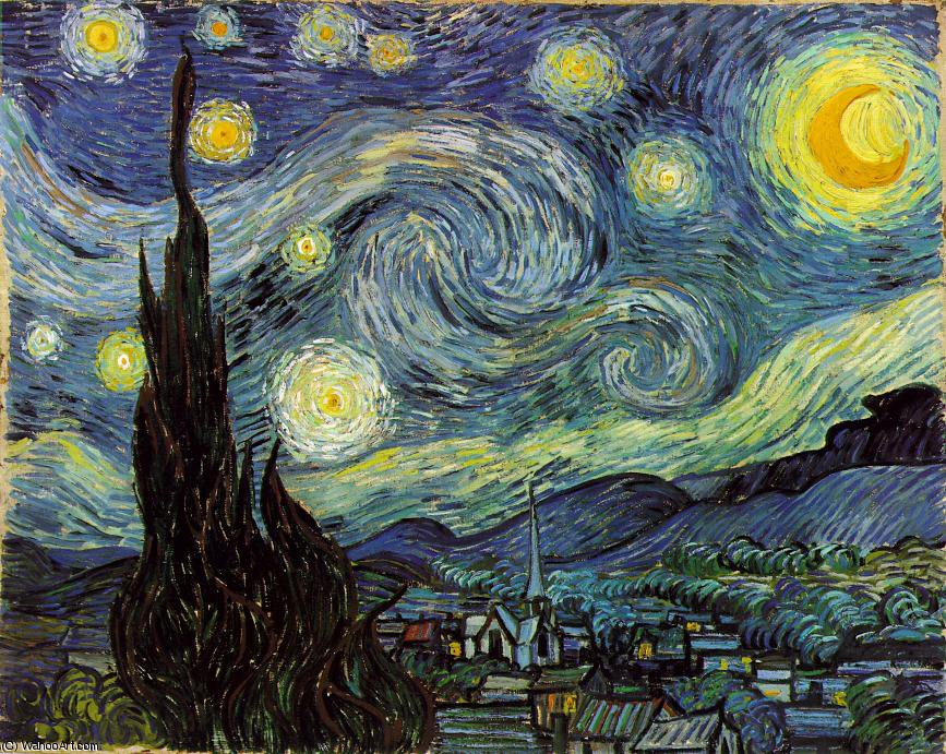 famous painting The Starry Night, Moma NY of Vincent Van Gogh