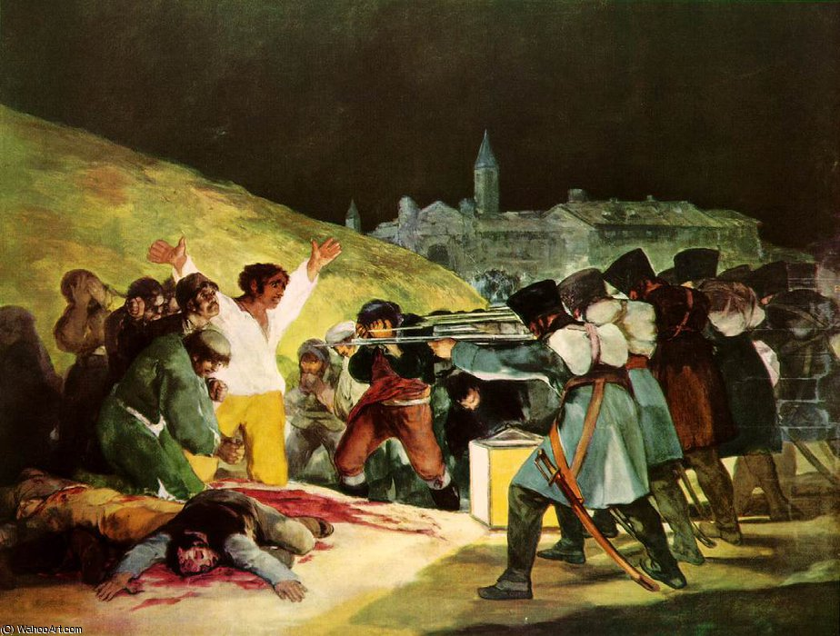 famous painting The Shootings of May Third Prado of Francisco De Goya