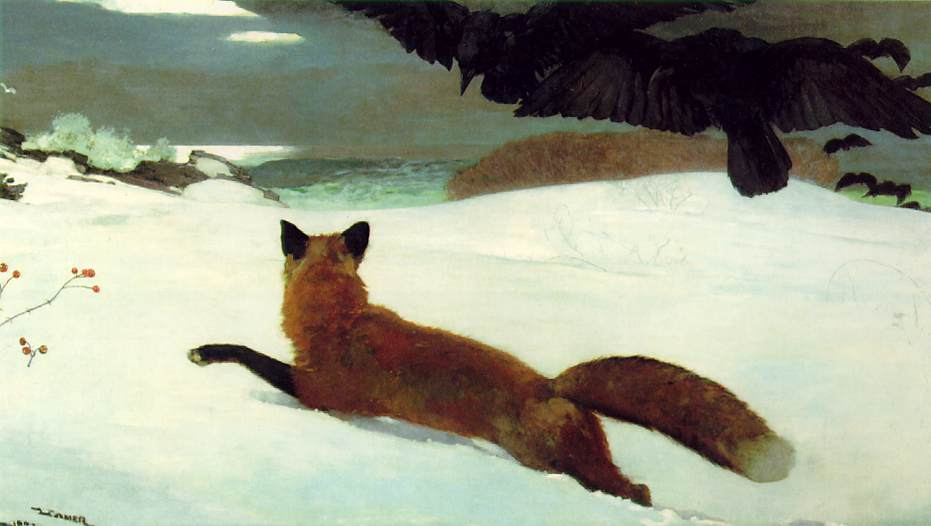 famous painting The fox hunt pensylvania academy of the fine arts of Winslow Homer