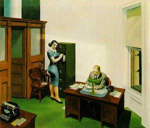 Edward Hopper - Office at night, Walker Art Center, Minneapolis
