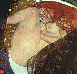 Gustav Klimt - Danae, oil on canvas, private colle