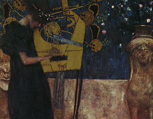 Gustav Klimt - Music I, oil on canvas, Neue Pinakothek, Munich
