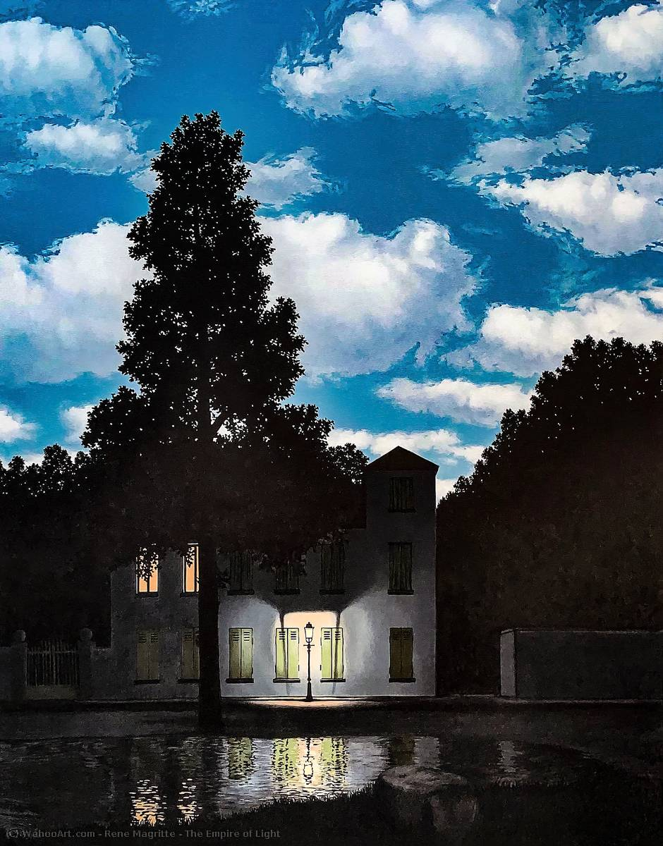 famous painting The Empire of Light of Rene Magritte