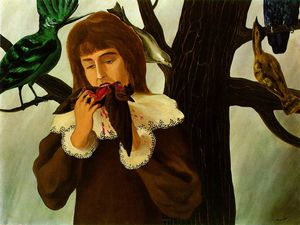 Rene Magritte - Young girl eating a bird