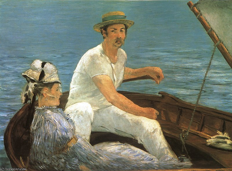 famous painting Boating, Metropolitan Museum of Art, New York of Edouard Manet