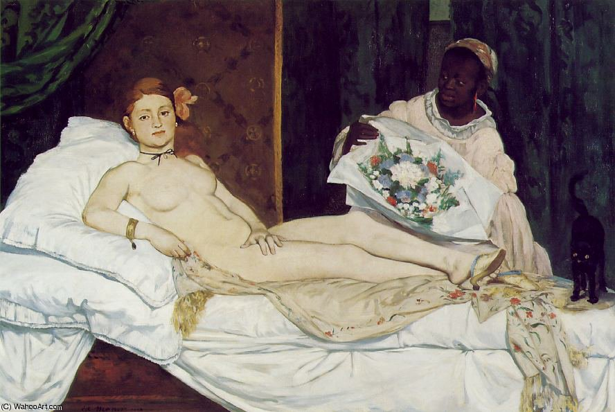 Order Museum Quality Copies | Olympia, Musee d'Orsay, Paris by Edouard Manet | AllPaintingsStore.com