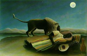 Henri Julien Félix Rousseau (Le Douanier) - The Sleeping Gypsy, Moma NY