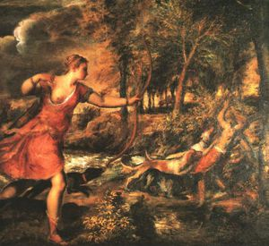 Tiziano Vecellio (Titian) - Death of actaeon, ng london