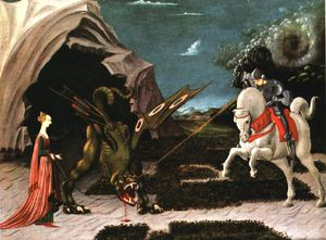Paolo Uccello - St george and the dragon,1456, nglondon
