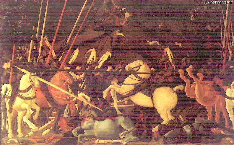 famous painting The battle of San Romano of Paolo Uccello