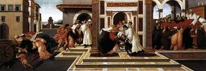Sandro Botticelli - Last Miracle and the Death of St Zenobius