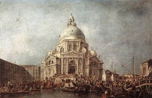 Francesco Lazzaro Guardi - The Doge at the Basilica of La Salute