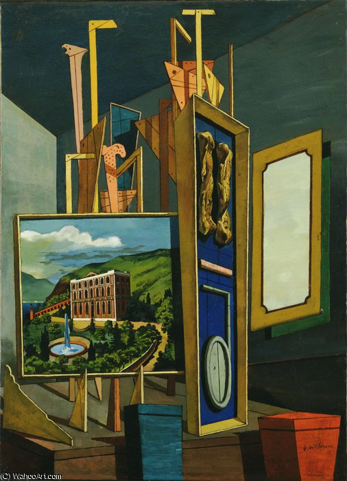 famous painting Great metaphysical interior of Giorgio De Chirico