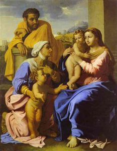 Nicolas Poussin - Holy Family with John the Baptist and St. Elizabeth