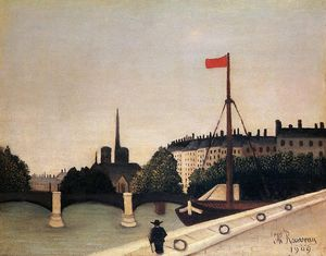 Henri Emilien Rousseau - Notre Dame - View of the Ile Saint-Louis