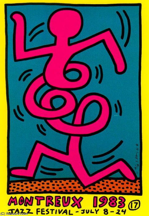 famous painting Untitled (235) of Keith Haring