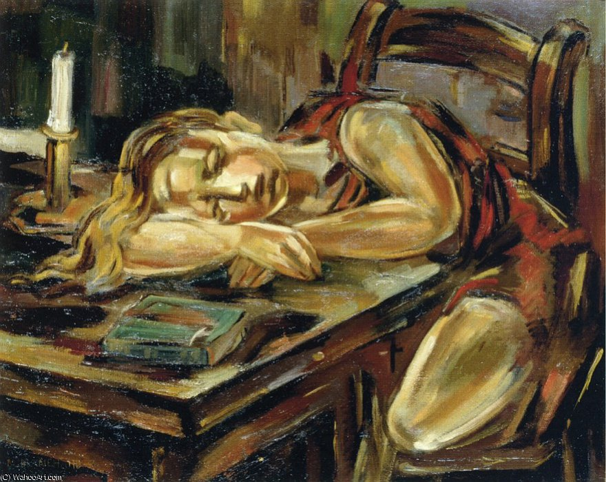 famous painting Sleeping girl of Maria Blanchard