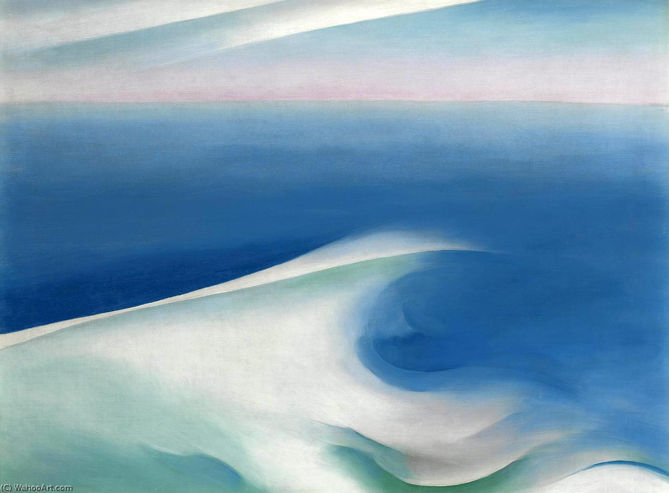 famous painting Blue wave maine of Georgia Totto O'keeffe