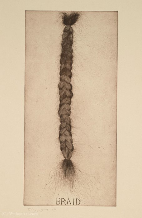 famous painting Braid of Jim Dine