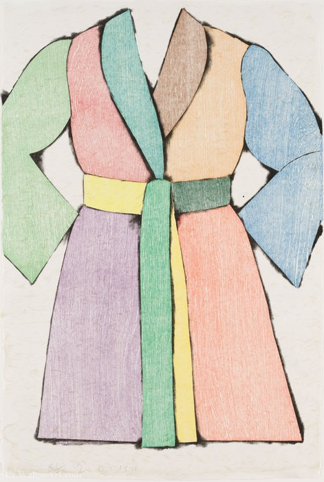 famous painting The woodcut bathrobe of Jim Dine