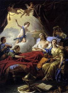 Louis Jean François Lagrenée - Allegory on the Death of the Dauphin