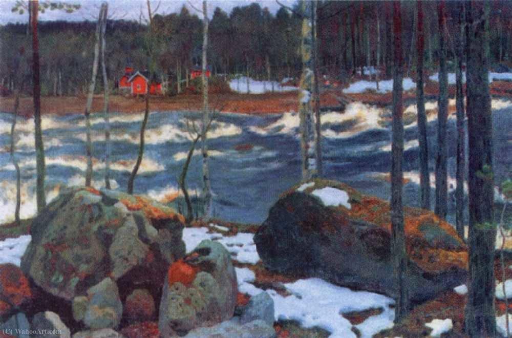 famous painting Thundering river of Arkady Rylov