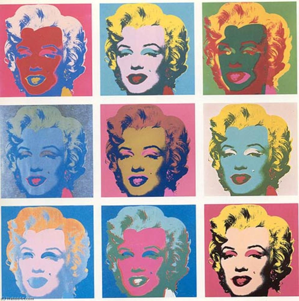 famous painting Marilyn Diptych of Andy Warhol