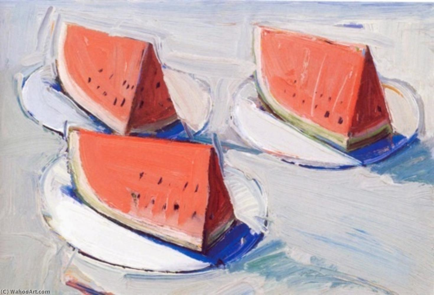 famous painting Watermelon large of Wayne Thiebaud
